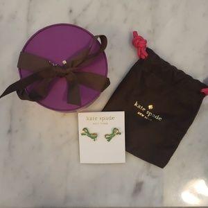 Kate spade green post earrings NWT